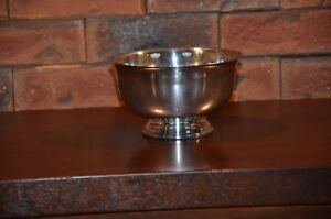 Revere Pattern Silver Plate Bowl By International Silver Company