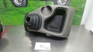 98 03 Chevy S10 Pick Up Floor Shifter Boot Console Cup Holder Grey 1522998