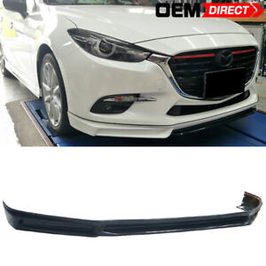 For 17 18 Mazda 3 4dr 5dr Mk Style Abs Plastic Front Bumper Lip
