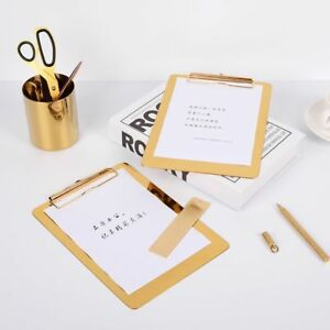 Writing Board Stainless Steel Memo Pad Clipboard Office Accessories Stationery