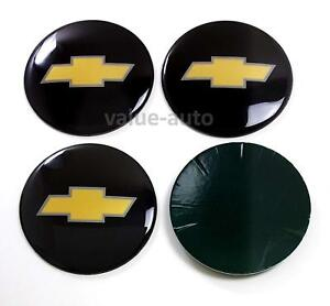 4x Black Wheel Center Cap Logo Sticker Decal Emblem 3 5 Chevy 1500 2500 3500