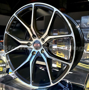 18x9 5x108 Str 602 Black Machine Made For Ford Volvo