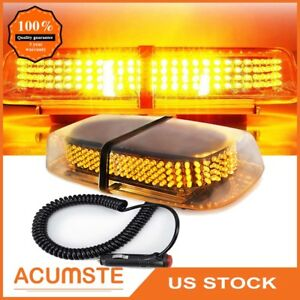 240 Led Amber Yellow Car Truck Roof Top Emergency Warning Flash Strobe Light Us