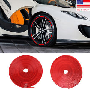 8m Car Wheel Hub Rim Edge Protector Ring Tire Guard Line Rubber Strip Decor Us