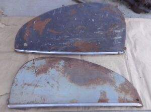 1939 1941 Lincoln Zephyr Rear Fender Skirts Original Pair Accessory