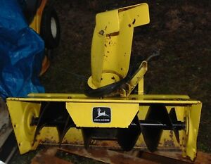 John Deere 38 Snow Thrower Blower Attachment For Lx And Gt Tractors With Manual