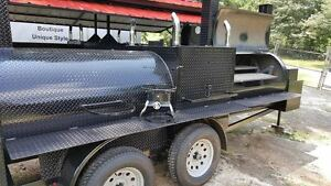 T Rex W Rotisserie Bbq Smoker Cooker Grill Trailer Mobile Food Truck Concession