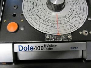 Dole Model 400 Siebe Grain Moisture Tester With Carry Case Free Shipping