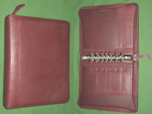 Classic 1 5 Red Top Grain Leather Franklin Covey Quest Planner Binder 4408
