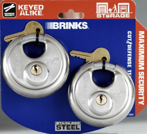 Brinks 153 70201 Stainless Steel Padlocks With Shielded Shackle 2 13 16 inch 2