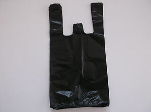 800 Ct plastic Shopping Bags Black Grocery Store Bags small Size 1 9