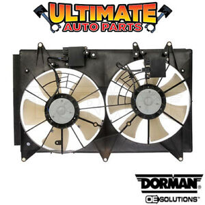 Radiator Cooling Fan With Controller 2 3l Turbo For 07 09 Mazda Cx 7