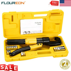 10 Ton Hydraulic Crimper Crimping Tool W 8 Dies Battery Cable Lug Terminal Case