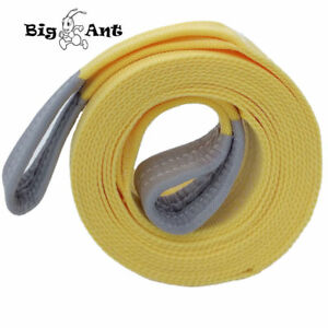 3 X 20 Tow Towing Rope Strap Heavy Duty Recovery 20 000 Lbs Capacity For Car
