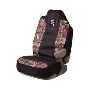 Browning Camo Seat Cover Universal Fit Infinity Black Pink Single