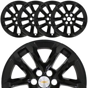 2018 19 Chevrolet Traverse 18 Black Wheel Skins Hub Caps Full Alloy Rim Covers