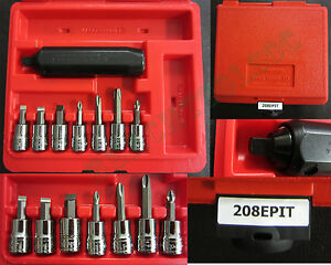 New Snap On Pit120 Impact Driver 8 Pcs Set 208epit In Pb108a Red Case
