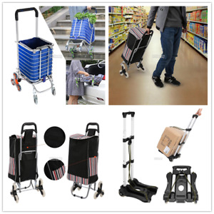 Urban Stair Climbing Cart 6 8 Wheels Folding Grocery Laundry Shopping Handcart