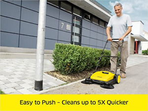 Outdoor Cleaner Sweeper Push Broom Hand Powered Walk behind Floor Cleaning 4 2g