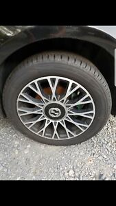 Set Of 4 Fiat 500 Gucci Oem Wheels And Tires 15
