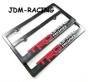 X2 Jdm Trd Off Road Abs Black Racing License Plate Frame Universal For Toyota