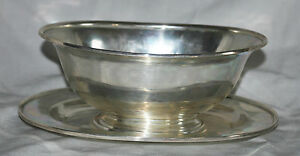 2pc Sterling Silver Sauce Mayo Gravy Bowl Under Platter Arthur Stone