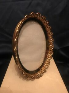 Fab Vintage Gold Gild Brass Metal Very Ornate Table Photo Frame 5 X 4