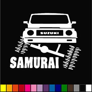 Jeep Suzuki Samurai Furnia Decal 5 Car Window Funny Vinyl Sticker