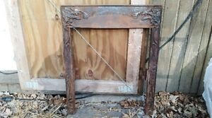 Vintage Victorian Art Deco Steam Punk Cast Iron Fireplace Mantle
