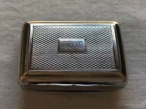 Beautiful 1817 1818 Antique Sterling Silver Snuff Box By Silversmith John Shaw