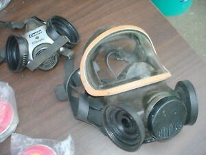 2 msa Silicone Mask s Respirator 1 Large i Med pre owned w cartridges As is