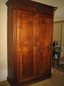 French 19th Century Armoire Wine Cabinet Storage Solid Walnut