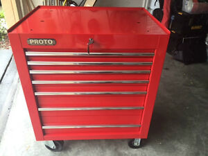 Proto J453441 7rd 7 Drawer Red Tool Box Mac Great Condition Must See Scans