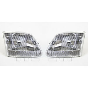 Fits 1997 2002 Ford Expedition Headlight Pair Driver And Passenger Side Capa