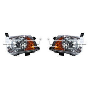 Fits 2003 2006 Honda Element Headlight Pair Driver And Passenger Side Capa