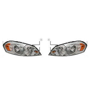 Fits 2006 2013 Chevrolet Impala Headlight Pair Driver And Passenger Side Nsf