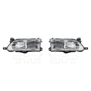 Fits 1993 1997 Toyota Corolla Headlight Pair Driver And Passenger Side Nsf