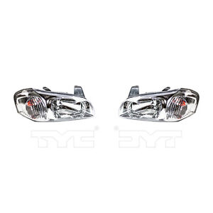 Fits 2000 2001 Nissan Maxima Headlight Pair Driver And Passenger Side Nsf