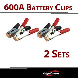 2pair 600a Battery Clips Clamps Jumper Cable Jump Starter Electric Distribution