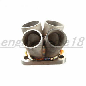 4 1 4 Cylinder Manifold Header Collector T3 T3 T4 With Turbo Inlet Flange Us