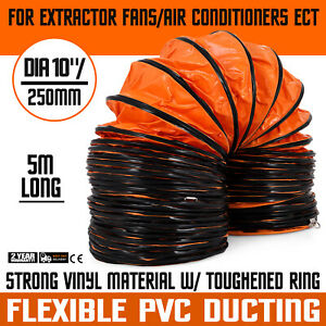 16 lx10 Air Duct Ventilation Hose Pvc Coated Flexible Polyester Pipe