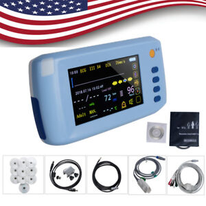 Handheld Lcd Touch Screen Icu Ccu Patient Monitor 6 parameter Portable Cardiac A