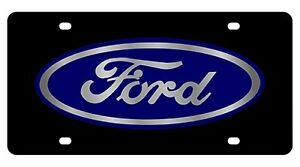 New Ford Blue Logo Acrylic License Plate