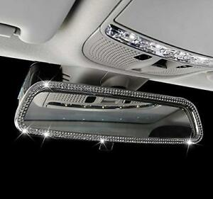 New Crystai Ice Out Interior Rear View Mirror Cover Frame Bling Mercedes Benz