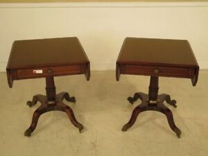 F41109e Vintage 1950 S Era Regency Mahogany Pembroke Tables