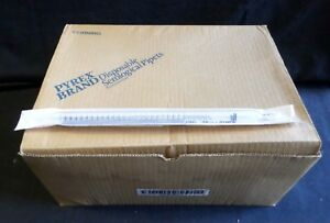 95 Corning Pyrex 25ml Glass Shorty Disposable Serological Pipets 7077b 25