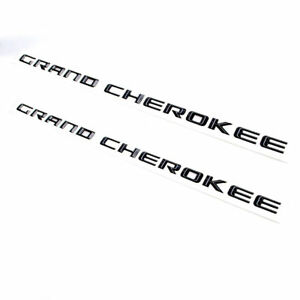2x Grand Cherokee Altitude Nameplate Emblem Badge Stickers For Jeep Matte Black