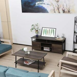 Home Office Furniture Living Room Tv Stand Coffee Table Wood Furniture Black