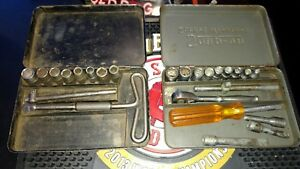 Snap On Tools Vintage 1945 1 4 Drive Midget Set Great Shape