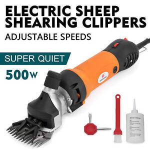 500w Electric Sheep Goat Shears Clippers Animal Shave Wool Brush Aluminum Pro